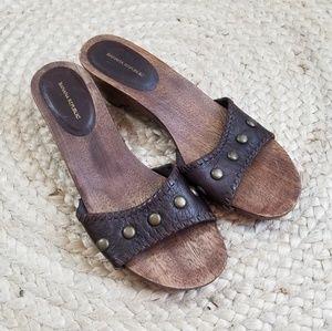 Banana Republic Wooden Slide Sandals